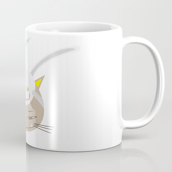 CAT WITH RABBITZ MASK Mug