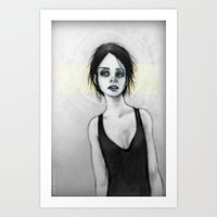 Beginning (the Girl o1) Art Print