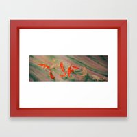 Koi River Framed Art Print