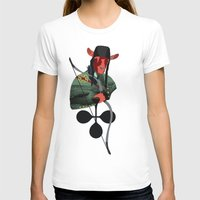 LANCELOT DU LAC Womens Fitted Tee White SMALL