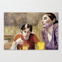 The Conversation Canvas Print