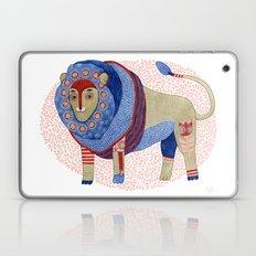 Blue Floral Lion Laptop & iPad Skin