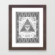 Legend Of Zelda Kingdom … Framed Art Print