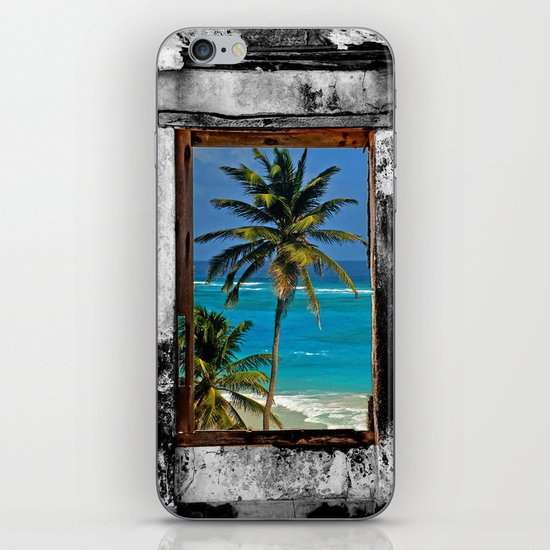 Kitchen Window Uptown Coffee Festival 2016: WINDOW ON PARADISE IPhone & IPod Skin By Catspaws