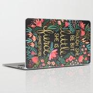 Little & Fierce On Charc… Laptop & iPad Skin