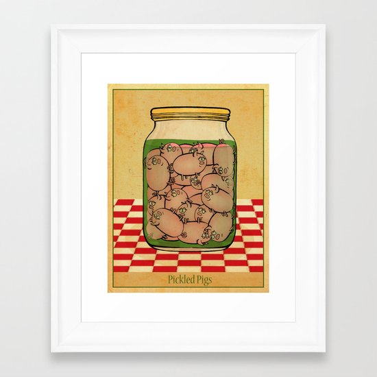 Pickled Pig Revisited Framed Art Print