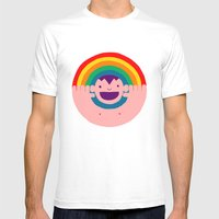 Rainbow Kid Mens Fitted Tee White SMALL