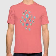 Floating Gems - A Patter… Mens Fitted Tee Pomegranate SMALL