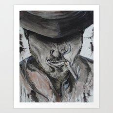 sincity cowboy Art Print