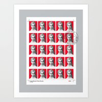 Passport Size Photos Art Print
