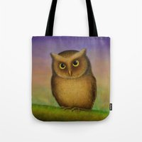 Mountain Scops Owl Tote Bag