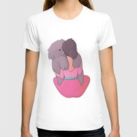 Bear Hugs Womens Fitted Tee White SMALL