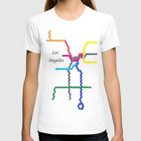 los angeles T-shirts featuring Los Angeles by Abstract Graph Designs