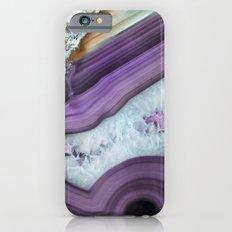 Purple Agate Slice iPhone 6 Slim Case
