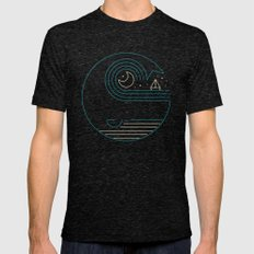 Moonlight Companions Mens Fitted Tee Tri-Black SMALL
