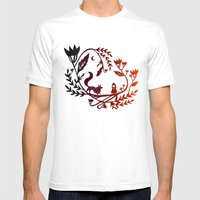 Red And Wolf Mens Fitted Tee White SMALL