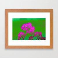 Funky Floral - JUSTART © Framed Art Print