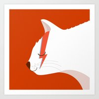 David Meowie Art Print