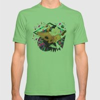 PAPAYA by Carboardcities and Kris tate Mens Fitted Tee Grass SMALL