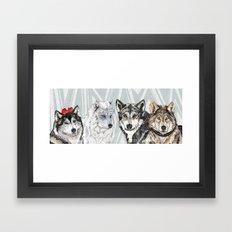 Wolf Family Portrait Framed Art Print
