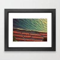 Colorful Beach Umbrellas… Framed Art Print