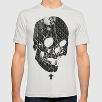 TML SKULLIFASHION Women Mens Fitted Tee Silver SMALL