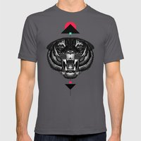 Roar My *--Tiger--* Mens Fitted Tee Asphalt SMALL