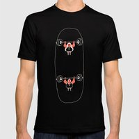 Heavyweight Skateboarding Mens Fitted Tee Black SMALL