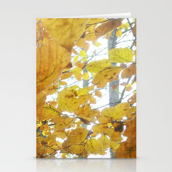 Autumn Leaves Stationery Card