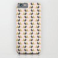 Gold + Black + Pink Mountains iPhone 6 Slim Case