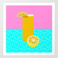 Lemonade /// www.pencilmeinstationery.com Art Print