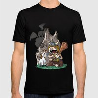 Dungeon! Mens Fitted Tee Black SMALL