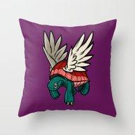 Flight Of The Tortoise Throw Pillow