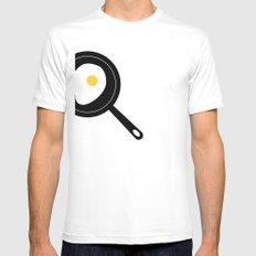 Fried Egg Mens Fitted Tee SMALL White