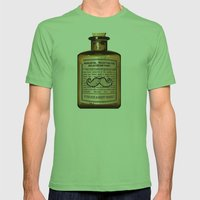 Magical Mustache Rejuvinator Mens Fitted Tee Grass SMALL