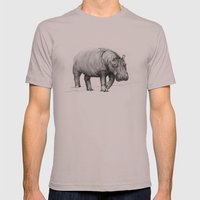 Hippo Mens Fitted Tee Cinder SMALL