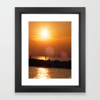 As The Sun Goes Down Framed Art Print
