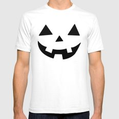 Happy Jack-O-Lantern Mens Fitted Tee White SMALL