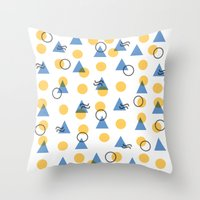 Random Geometric Throw Pillow