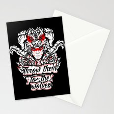 Throw Them To The Wolves Stationery Cards