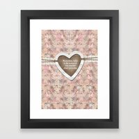 Homespun Framed Art Print