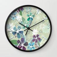 Summer blossom Wall Clock