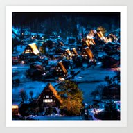 Art Print featuring Magical Village by Haroulita!!