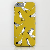 iPhone & iPod Case featuring Bird Print - Mustard Yellow by Hannah Stevens