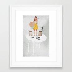 ON / ... | Collage Framed Art Print