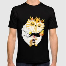 Puss in Boots Mens Fitted Tee SMALL Black