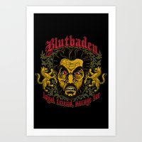 Blutbaden Art Print