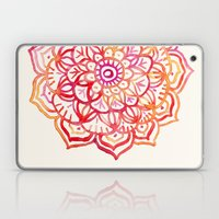 Watercolor Medallion in Sunset Colors Laptop & iPad Skin