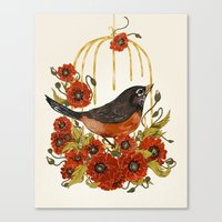 Caged Bird Sings Canvas Print
