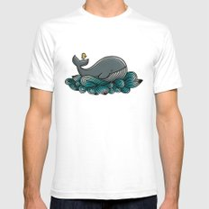 Tale of a Whale White SMALL Mens Fitted Tee